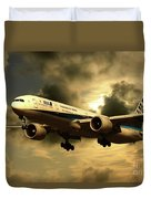 Ana Boeing 773 Ja784a Duvet Cover
