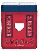 Anaheim Angels Art - Mlb Baseball Wall Print Duvet Cover