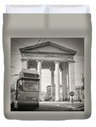 Analog Black And White Photography - Milan - Porta Ticinese Duvet Cover