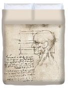 Anatomical Drawing By Leonardo Da Vinci Duvet Cover