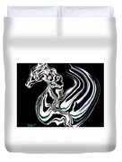 Anatomical Study Of The Legendary Pegaseahorse Duvet Cover
