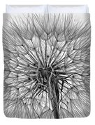 Anatomy Of A Weed Monochrome Duvet Cover