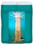 Ancestral Tree Indians To The Sea Duvet Cover