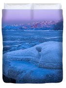 Anchorage Icebergs Duvet Cover