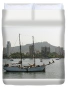 Anchored Sailboat Duvet Cover