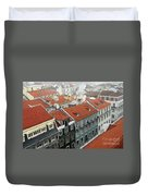 Ancient Buildings At Lisbon. Portugal Duvet Cover
