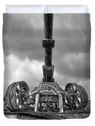 Ancient Cannon In Black And White Duvet Cover