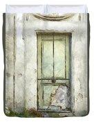 Ancient Doorway Rome Italy Pencil Duvet Cover