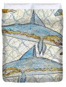Ancient Greek Dolphins Duvet Cover
