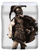 Ancient Greek Hoplite Duvet Cover