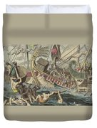 Ancient Greek Sea Battle Duvet Cover