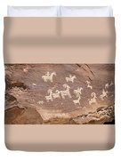 Ancient Hieroglyphics In Arches National Park Duvet Cover