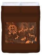 Ancient Indian Petroglyphs Duvet Cover