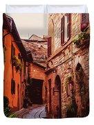 Ancient Italian Village Duvet Cover