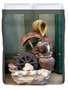 Model Of Ancient Water Mill In Greece  Duvet Cover