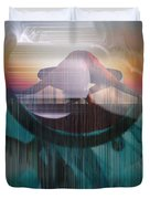 Ancient Of Days - After William Blake Duvet Cover