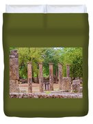 Ancient Olympia, Greece. Duvet Cover