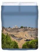 Ancient Pergamon Acropolis Duvet Cover