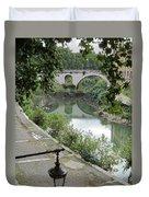 Ancient Roman Foot Bridge Duvet Cover