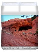 Ancient Ruins Mystery Valley Colorado Plateau Arizona 01 Text Duvet Cover