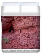 Ancient Ruins Mystery Valley Colorado Plateau Arizona 02 Text Duvet Cover