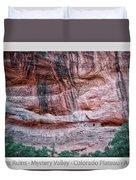 Ancient Ruins Mystery Valley Colorado Plateau Arizona 03 Text Duvet Cover