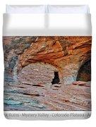 Ancient Ruins Mystery Valley Colorado Plateau Arizona 05 Text Duvet Cover