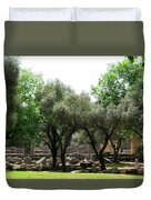 Ancient Ruins Temple Grounds 2 Duvet Cover