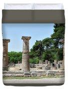 Ancient Ruins Wide Columns Duvet Cover