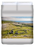 Ancient Settlement In The Burren Duvet Cover