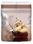 Ancient Ships Duvet Cover