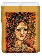Ancient Woman Duvet Cover