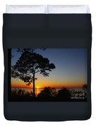 Anclote Gulf Sunset Duvet Cover