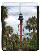 Anclote Key Lighthouse Duvet Cover