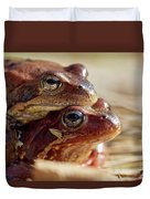 And Then I Found You. European Common Brown Frog Duvet Cover