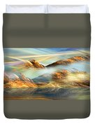 And The Light Shines On And On And On... Duvet Cover