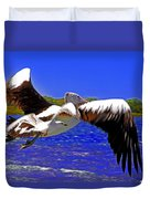 And The Seagull Follows Pelican Duvet Cover