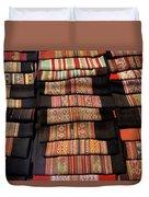 Andean Textile Market Duvet Cover