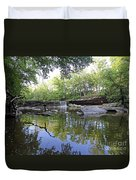 Anderson Falls, Indiana Duvet Cover