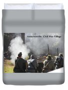 Andersonville Civil War Village Duvet Cover