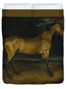 Andre Theodore Gericault   A Horse Frightened By Lightning Duvet Cover