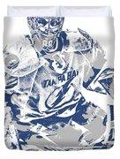 Andrei Vasilevskiy Tampa Bay Lightning Pixel Art 2 Duvet Cover