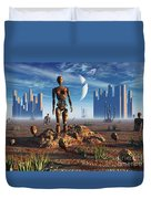 Android Fossils Preserved Duvet Cover