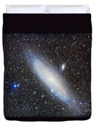 Andromeda Galaxy With Companions Duvet Cover