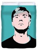 Andy Warhol Self Portrait 1964 On Cyan - High Quality Duvet Cover