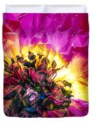 Anemone Abstracted In Fuchsia Duvet Cover