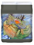 Anemone Coral And Fish Duvet Cover