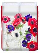 Anemone Flowers  Duvet Cover