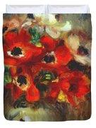 Anemones 1905 Duvet Cover