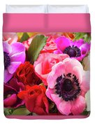 Anemones And Roses Duvet Cover